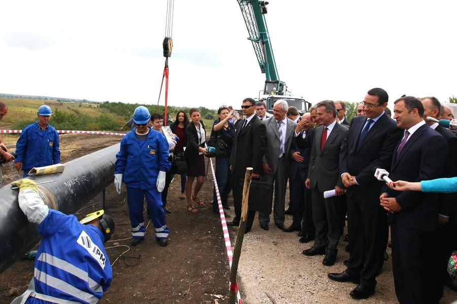Cтроительство газопровода Яссы-Унгены