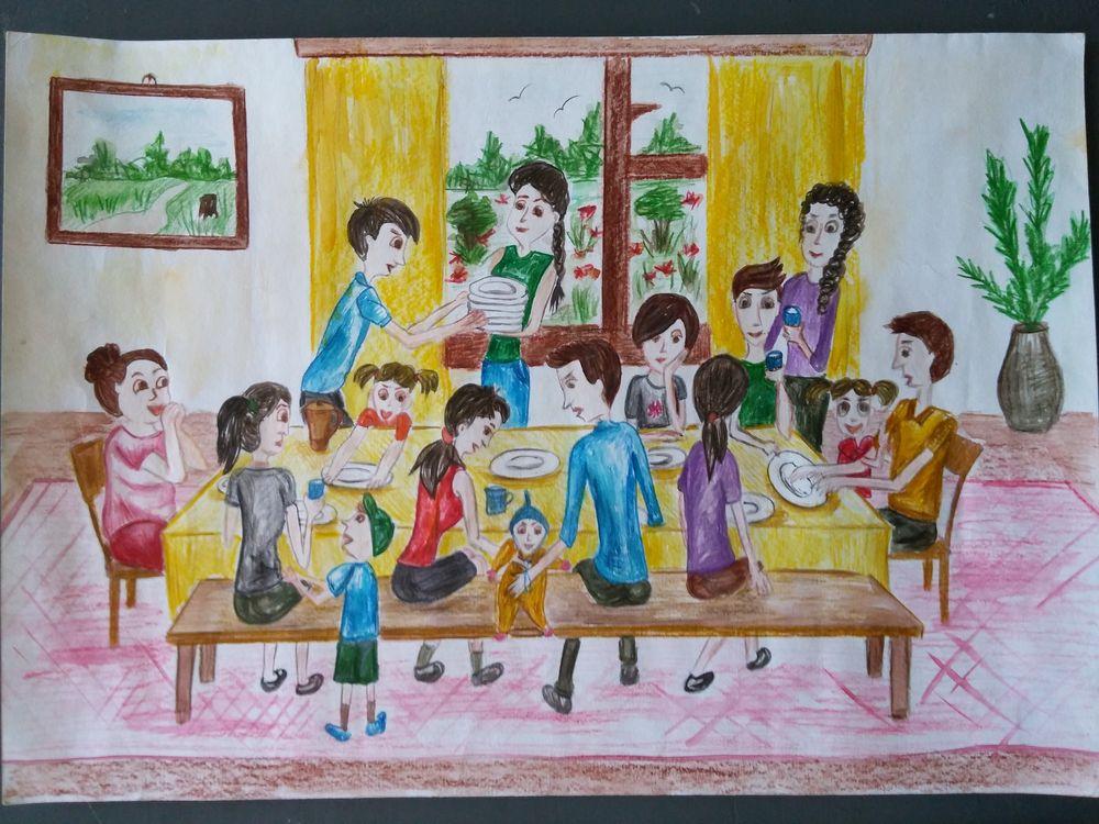 День росписи, конкурс рисунков моя семья