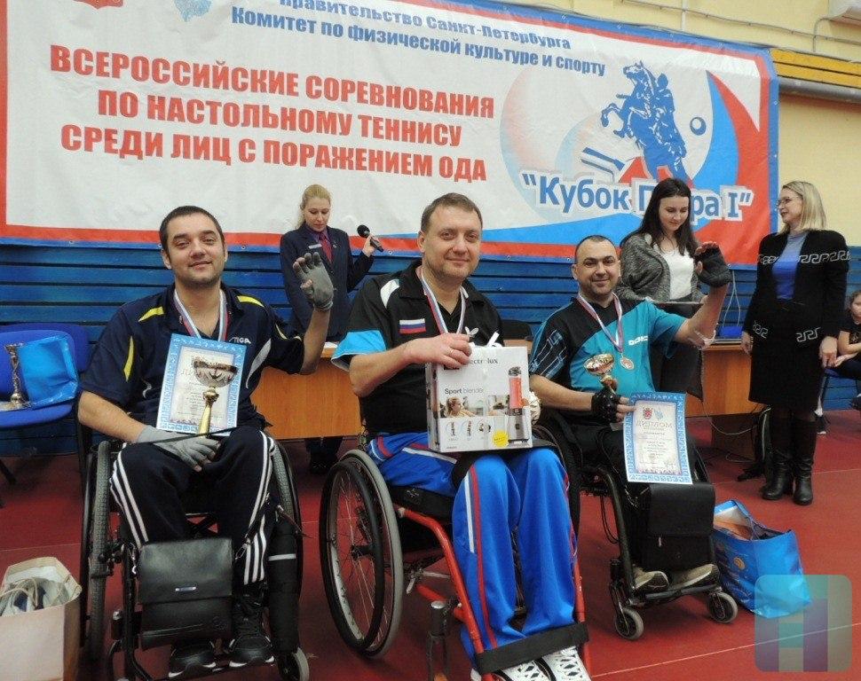 Дагестанцы взяли серебро наКубке Российской Федерации понастольному теннису среди колясочников