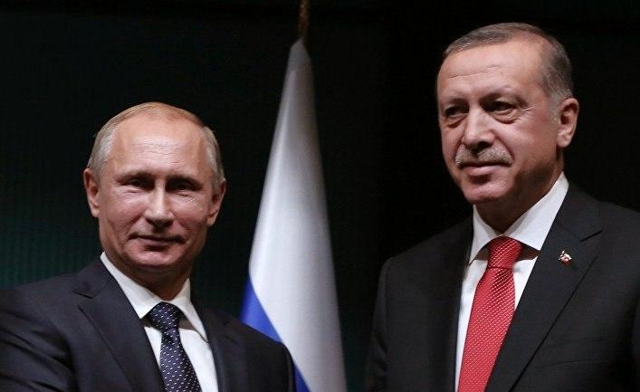 Навстрече сЭрдоганом Путин пошутил про руководителя турецкой спецслужбы