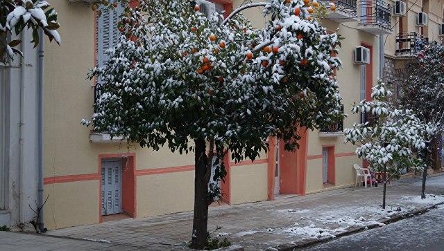 ВГрецию пришли «сибирские» морозы