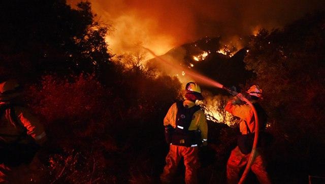 ВСША из-за лесных пожаров были эвакуированы около 8 тыс. человек