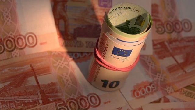 Курс евро поборол  отметку в61 руб.  впервый раз  сконца марта