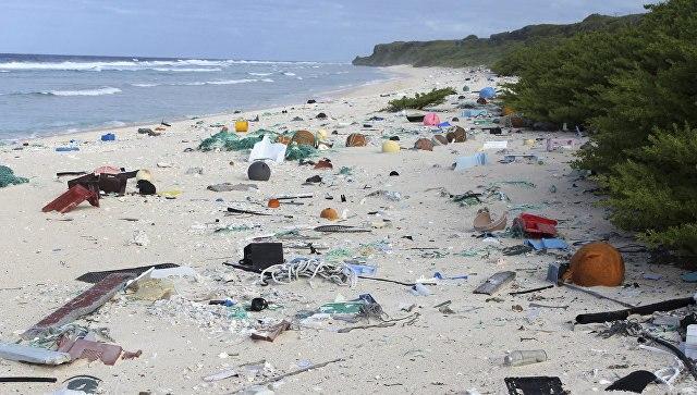 Остров вЮжной части Тихого океана «утонул» впластике