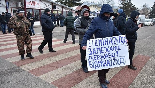 Протестующие снова заблокировали дороги кгранице сПольшей из-за новых пограничных правил