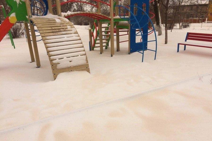 ВОдесской области выпал странный снег