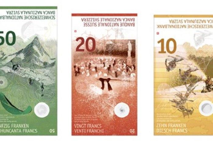 Швейцария введёт в обращение банкноты нового образца. Полная смена швейцарских  франков на купюры ... cfc403fbe78